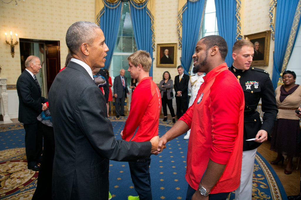 Dr. Jeff Porter meeting President Barack Obama
